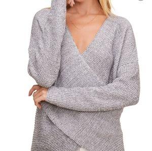 Astr the label wrap lightweight sweater